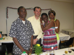 Celebrations with our friends from Congo
