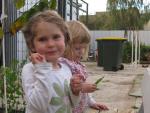 Pea tasting at Preca Community Garden