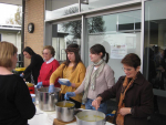 Young friends of Preca Community serving lunch on the 3rd Sunday at Our Lady of the Manger, Findon.JPG