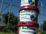 Battery collection at Preca Community Garden