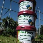 Battery collection at Preca Community Garden