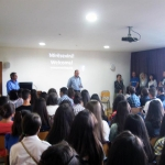 Staff, students and parents at Preca College
