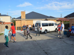 Final preparations before leaving for the Apollo bay camp