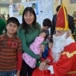 Saint Nicolas visits at Christmas time