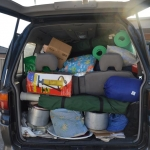 Van ready for the annual camp at Apollo bay